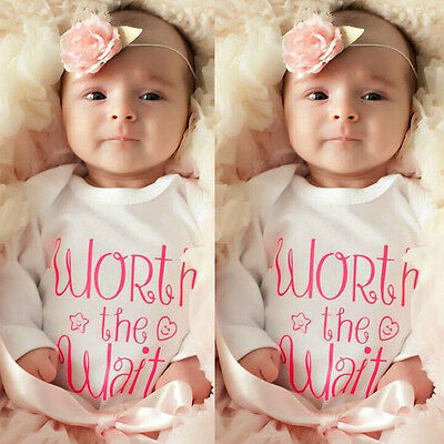 5fadb03a1ae COTTON NEWBORN BABY Girl Boy Clothes Bodysuit Romper Jumpsuit Playsuit  Outfits