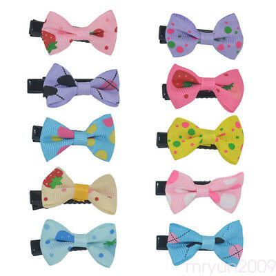 10PCS Bows Snaps Hair Clip Girls Baby Toddler Hair Alligator Clips Festival Gift