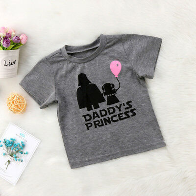 Baby Girls Toddler Summer Short Sleeve T-shirt Star Wars Cotton Clothes Tops