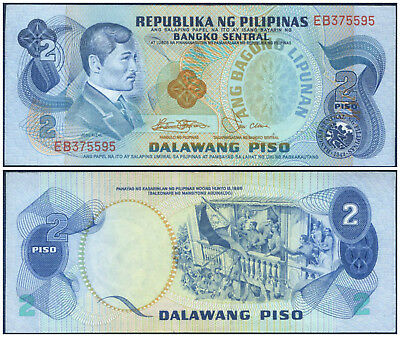 1978 CENTRAL BANK OF THE PHILIPPINES : 2 PISO ~ Jose Rizal