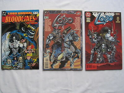 LOBO : ANNUAL s 1, 2 (ELSEWORLDS), 3 (YEAR ONE),  by GRANT etc.DC.1993,1994,1995