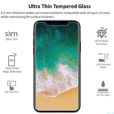 Premium Screen Protector Real Tempered Glass Film for iPhone X 8 Plus 6 6s 7 huo