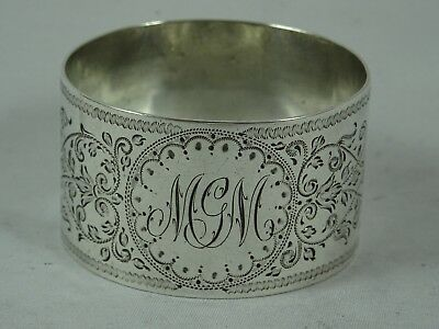 VICTORIAN SOLID silver NAPKIN RING, 1887 22gm