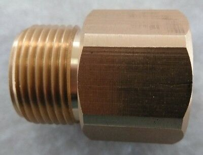 Female M22 x 15mm Convert To A (Standard) Male M22 X 14mm Adapter 4000 psi Brass