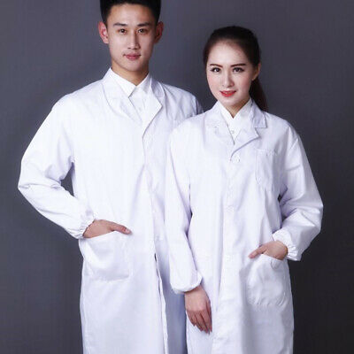 Medical Nurse Doctor White Long Lab Coats Men Women Lab Coat S/M/L/XL/2XL/3XL