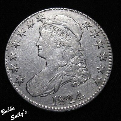 1824 Capped Bust Half Dollar <> XF Details