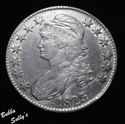 1825 Capped Bust Half Dollar <> XF Details