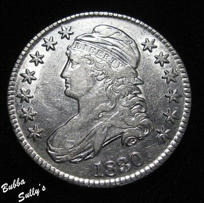 1830 Capped Bust Half Dollar <> EXTREMELY FINE