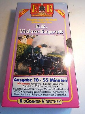 +106 Video VHS E.R. Video-Express Ausgabe 18 Eisenbahn Romantik Ortloff