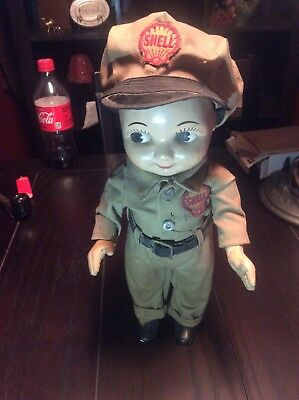 Vintage Buddy Lee Doll Shell Station Attendant 1950's