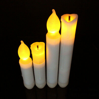 Long Flameless Candles Flickering LED Tea Light Candle Battery Tealight Eco Safe