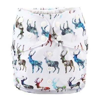 2 to 7 years old BIG Cloth Diaper Nappy Pocket Reusable Toddler Junior Deer