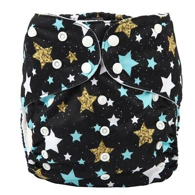 2 to 7 years old BIG Cloth Diaper Nappy Pocket Reusable Toddler Junior Stars