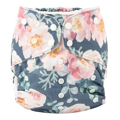 Junior BIG Cloth Diaper Nappy Pocket Reusable Toddler 2 to 7 years old Floral