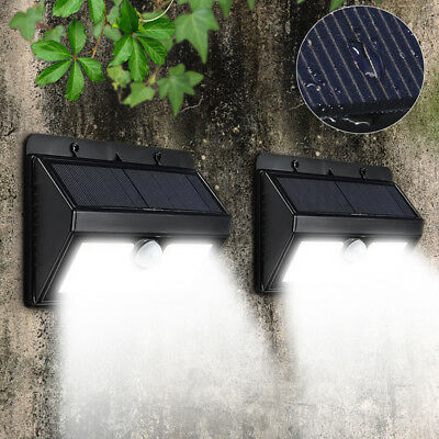 45 LED Solar Power PIR Motion Sensor Wall Light Waterproof Outdoor Garden Light