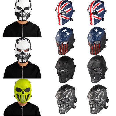 Hot Airsoft Paintball Tactical Full Face Protection Skull Mask CS Army War Game