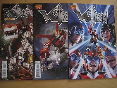 VOLTRON  : COMPLETE RUN of #s 1,2,3. DYNAMITE. 2012
