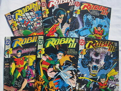 """ROBIN III : """"CRY OF THE HUNTRESS"""" complete 6 issue SERIES by Dixon & Lyle. 1992"""