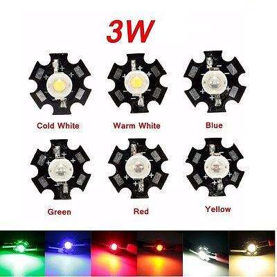 2/ 5/ 10 pc 3W High Power LED with PCB - Grow lights aquarium LED Full Spectrum