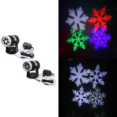 XMAS Fairy Light Projector Christmas Snowflake Outdoor Landscape LED Lamp Winter