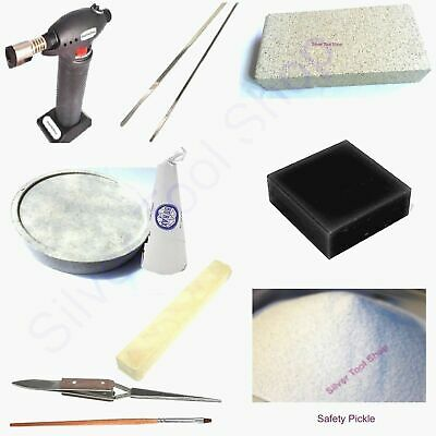84 pcs - Soldering Jewelry KIT Silver -Torch Flux, Solder Pickle, Saw ??