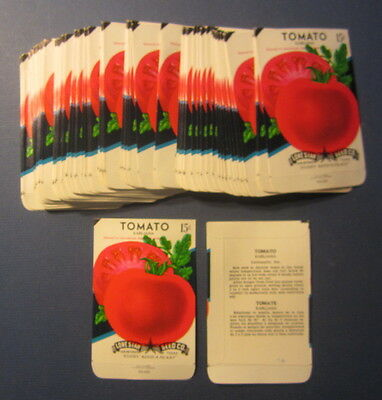 Wholesale Lot of 100 Old Vintage - TOMATO - Earliana - Vegetable SEED PACKETS