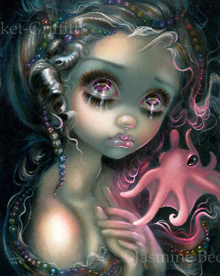 Jasmine Becket-Griffith art print SIGNED baby pink Dumbo Octopus Mermaid