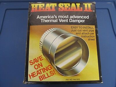 """Heat Seal II Thermal Vent Damper 5"""" Stainless Steel   FREE Shipping!!!!"""