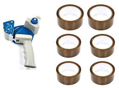 Heavy Duty Weight Sellotape Dispenser Gun Coming With  6 Free Rolls of Tape