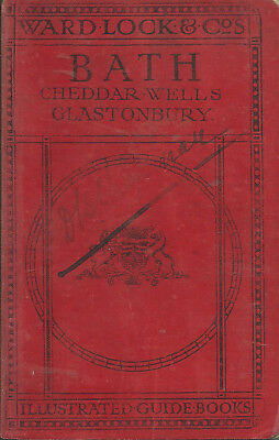 VERY EARLY WARD LOCK RED GUIDE - BATH - 1913/14 - 5th edition revised - RARE!