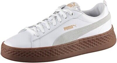 PUMA SMASH PLATE FORME Baskets Femme Bas Top Chaussures 366487 Blanc