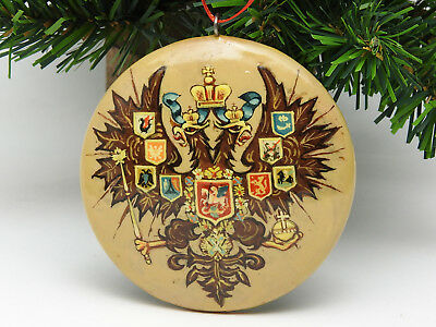Russian Double Headed Eagle Christmas Ornament Romanov Tsar Czar of Russia