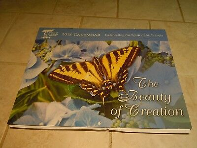 2018 Wall Calendar- Sisters Of St Francis Of Asissi-Animals- Butterfly-Birds