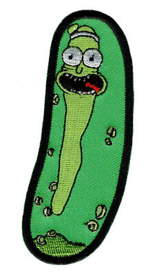 Pickle Rick And Morty Embroidered iron on Sew on Patch (3.75 X 1.25)