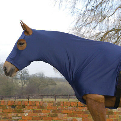 Mark Todd With Zip Unisex Horse Rug Stretch Hood - Navy All Sizes