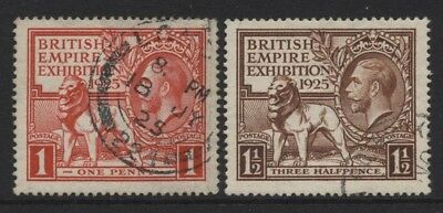 1925 Wembley Set Of Two Very Fine Used Sg 432-3