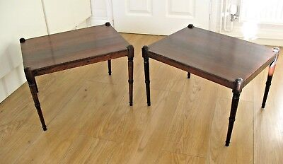 Pair of elegant original antique early Victorian Rosewood side end tables