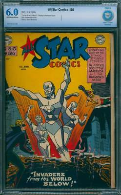 All-Star Comics # 51  Invaders from the World Below !  CBCS 6.0 scarce book !