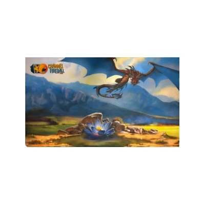 MTG Magic The Gathering Channel Fireball Playmat Black Lotus and Dragon