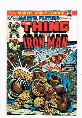 Marvel Feature # 12 The Thing & Iron Man ! grade 6.5 scarce book !!