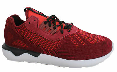 new concept cee03 34c06 spain adidas originals tubular runner lace up mens red weave trainers  s74812 u116 4eeea 98813