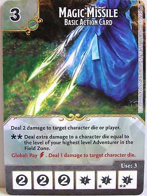 Dice Masters - 1x #011 Magic Missile Basic Action Card - D&D Tomb of Annihilatio