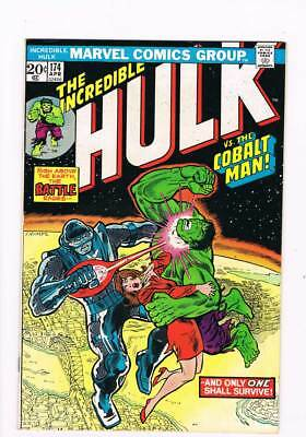 Incredible Hulk # 174  And Only One Shall Survive ! grade 8.0 scarce book !!