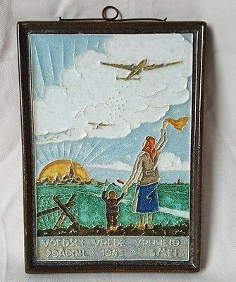 Dutch Delft Closone Wwii End Made In Thanks To The Allies Help April 1945