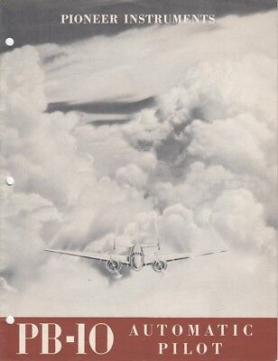1946 Eclipse Pioneer Division Instrument PB-10 Automatic Pilot Brochure Aviation
