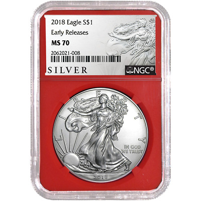 2018 $1 American Silver Eagle NGC MS70 ALS ER Label Red Core