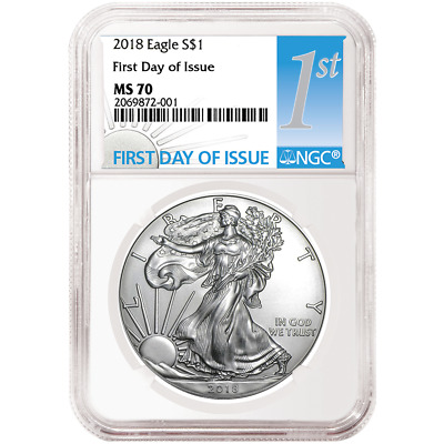 2018 $1 American Silver Eagle NGC MS70 FDI First Label
