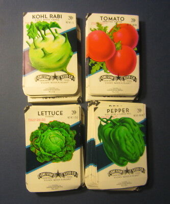Wholesale Lot of 200 Old Vintage Vegetable SEED PACKETS - 20 cent - EMPTY