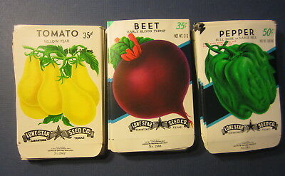 Wholesale Lot of 150 Old Vintage Vegetable SEED PACKETS Tomato Pepper Beet EMPTY