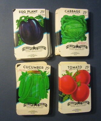 Wholesale Lot of 200 Old Vintage Vegetable SEED PACKETS - 25 cent - EMPTY - 4C